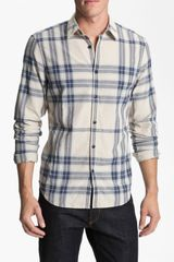 Burberry Brit Trim Fit Check Sport Shirt - Lyst