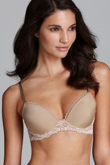 Calvin Klein Seductive Comfort Customized Lift Bra with Lace Wing - Lyst