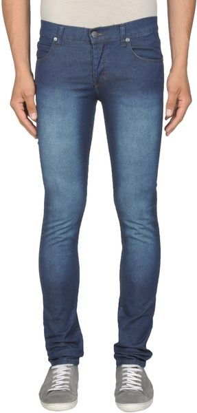 Cheap Monday Denim Pants in Blue for Men