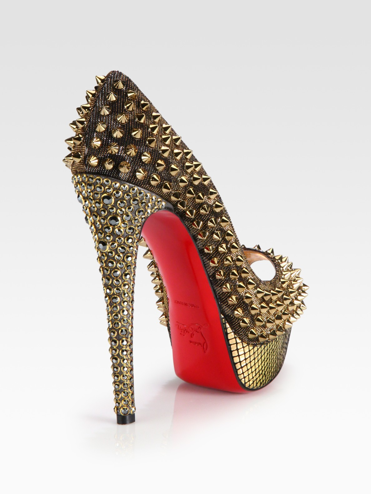 Red And Gold Heels - Is Heel