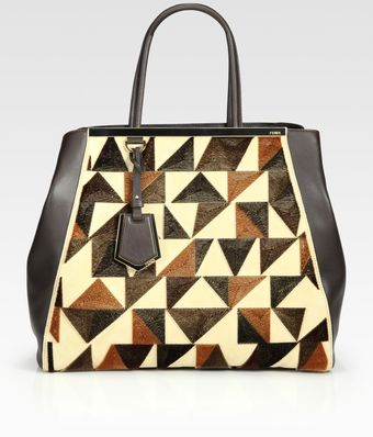 Fendi Dumbo Large Mixed Media Tote - Lyst