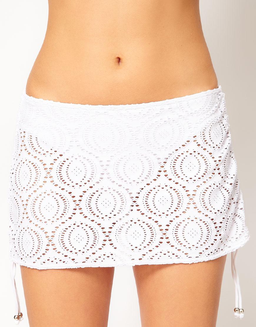 a9221d1f5a Freya Cha Cha Skirted Bikini Bottom in White - Lyst