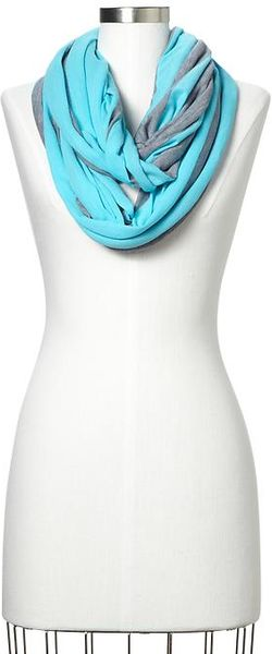 Gap Multistripe Infinity Scarf in Blue (turquoise & gray) - Lyst