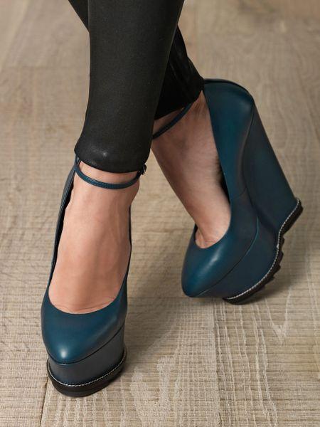 Giuseppe Zanotti High Wedge Heel Shoes in Blue (teal) | Lyst