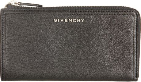 Givenchy Pandora Zip Around Wallet in Gray (black) - Lyst