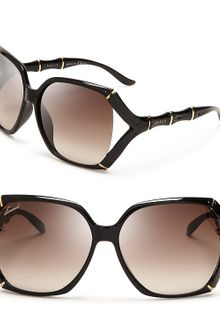 Gucci Oversized Rounded Square Sunglasses - Lyst