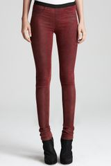 Helmut Lang Helmut Lang Leather Leggings Stretch - Lyst