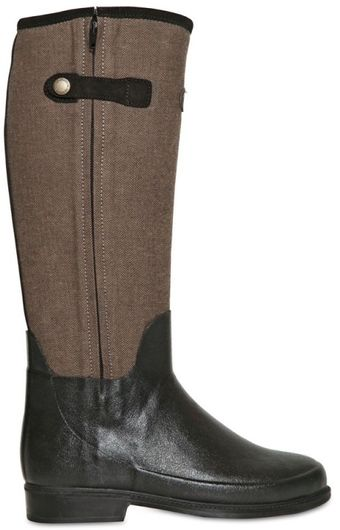 Le Chameau Waterproof Canvas Natural Rubber Boots - Lyst