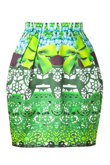 Mary Katrantzou Jade and Sky Printed Silk Tulip Skirt - Lyst