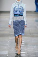 Mary Katrantzou Wool Blend Dress in Blue (sky) - Lyst