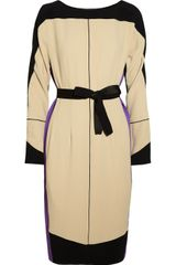 Narciso Rodriguez Colorblock Textured crepe Dress - Lyst