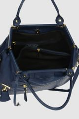 Parentesi Large Leather Bag in Blue (grey) - Lyst