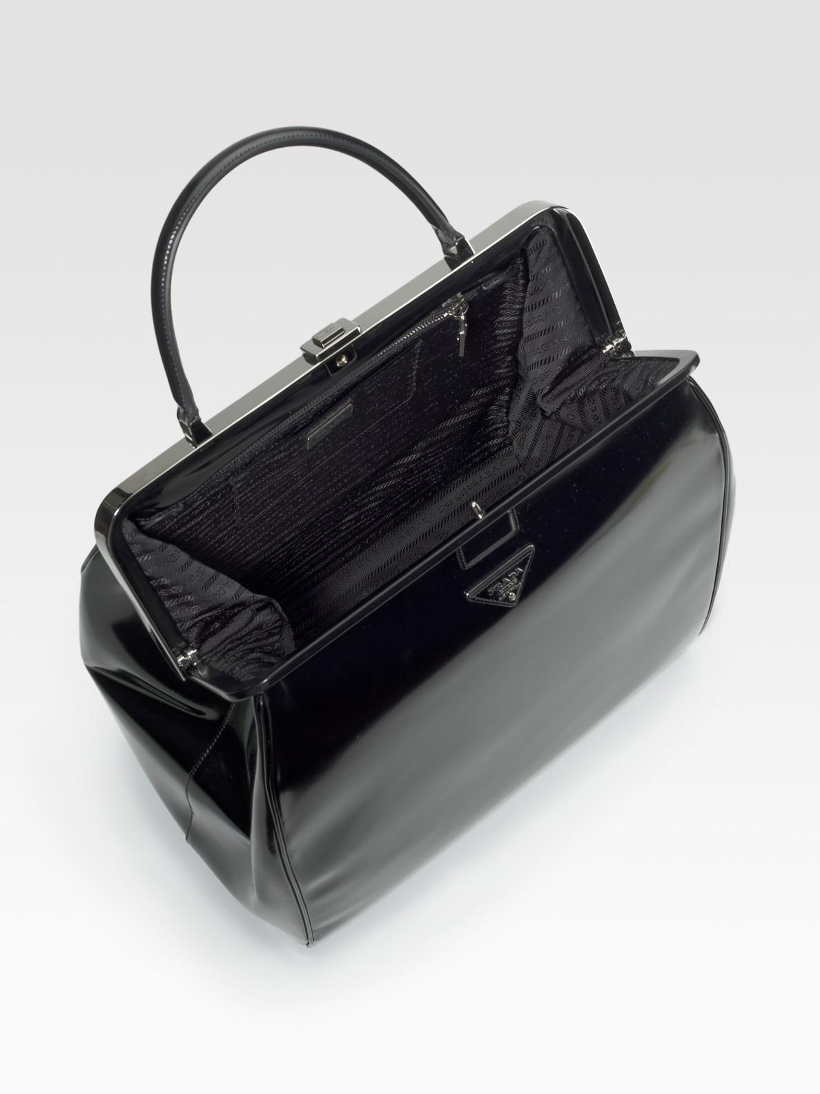 prada saffiano vernice strap bag - prada frame bag white