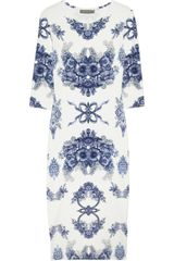 Preen Daisy Floral Print Stretch Jersey Dress - Lyst