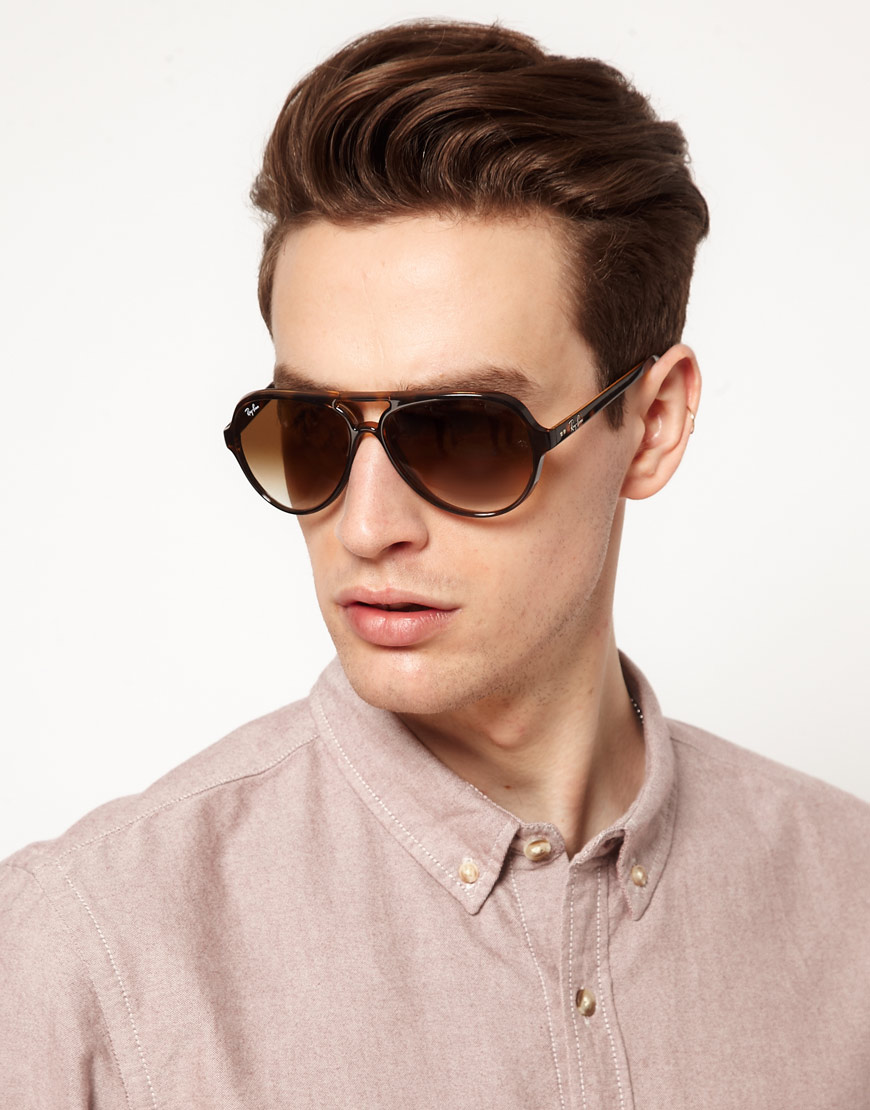 a790bbf6bd netherlands lyst ray ban aviator sunglasses in brown for men 31c1a 7220b