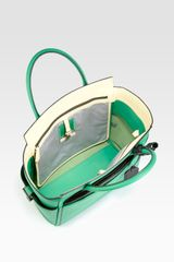 Reed Krakoff Atlantique Top Handle Satchel in Green - Lyst