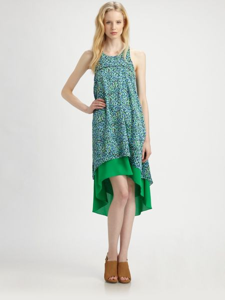 Sachin & Babi Vineyard Hilo Dress in Green (floral)