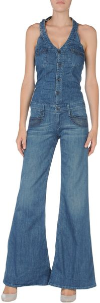 Seal Kay Denim Overall - Lyst