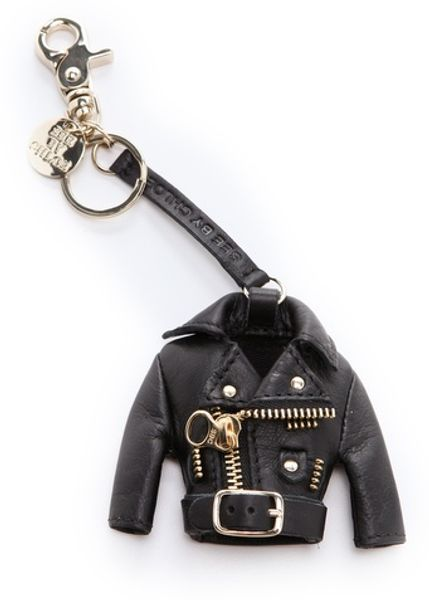 See By Chloé Rock Keychain in Black
