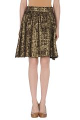 Alice + Olivia Knee Length Skirt in Brown - Lyst