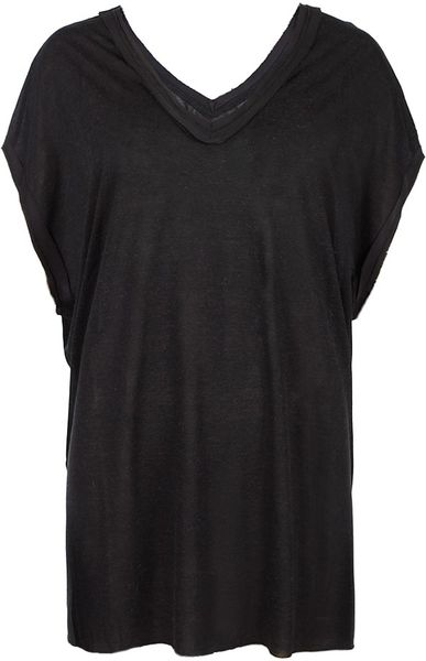 Allsaints Dita Top in Gray (charcoal/black) - Lyst