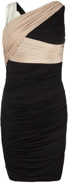 Allsaints Monochrome Dress in Black (multi) - Lyst