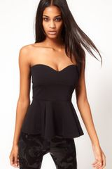 ASOS Collection Asos Bandeau with Extreme Peplum - Lyst