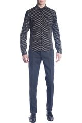 Burberry Prorsum Gingham Check Shirt in Black for Men - Lyst