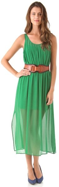 Club Monaco Diane Dress in Green - Lyst