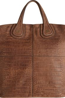 Givenchy Croc Stamped Nightingale Shopper Tote - Lyst