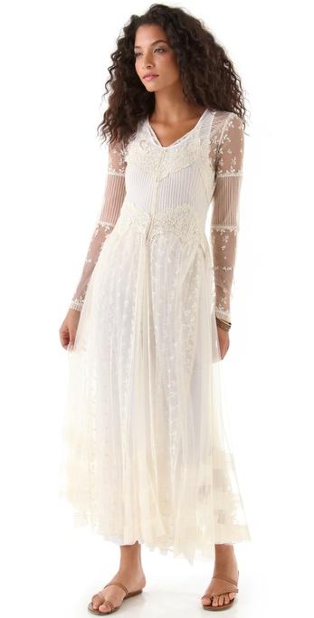 Lyst Haute Hippie Long Lace Dress In White