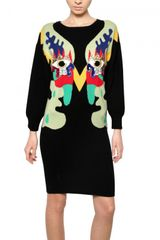 Lin Art Project Embroidered Wool Cashmere Knit Dress - Lyst