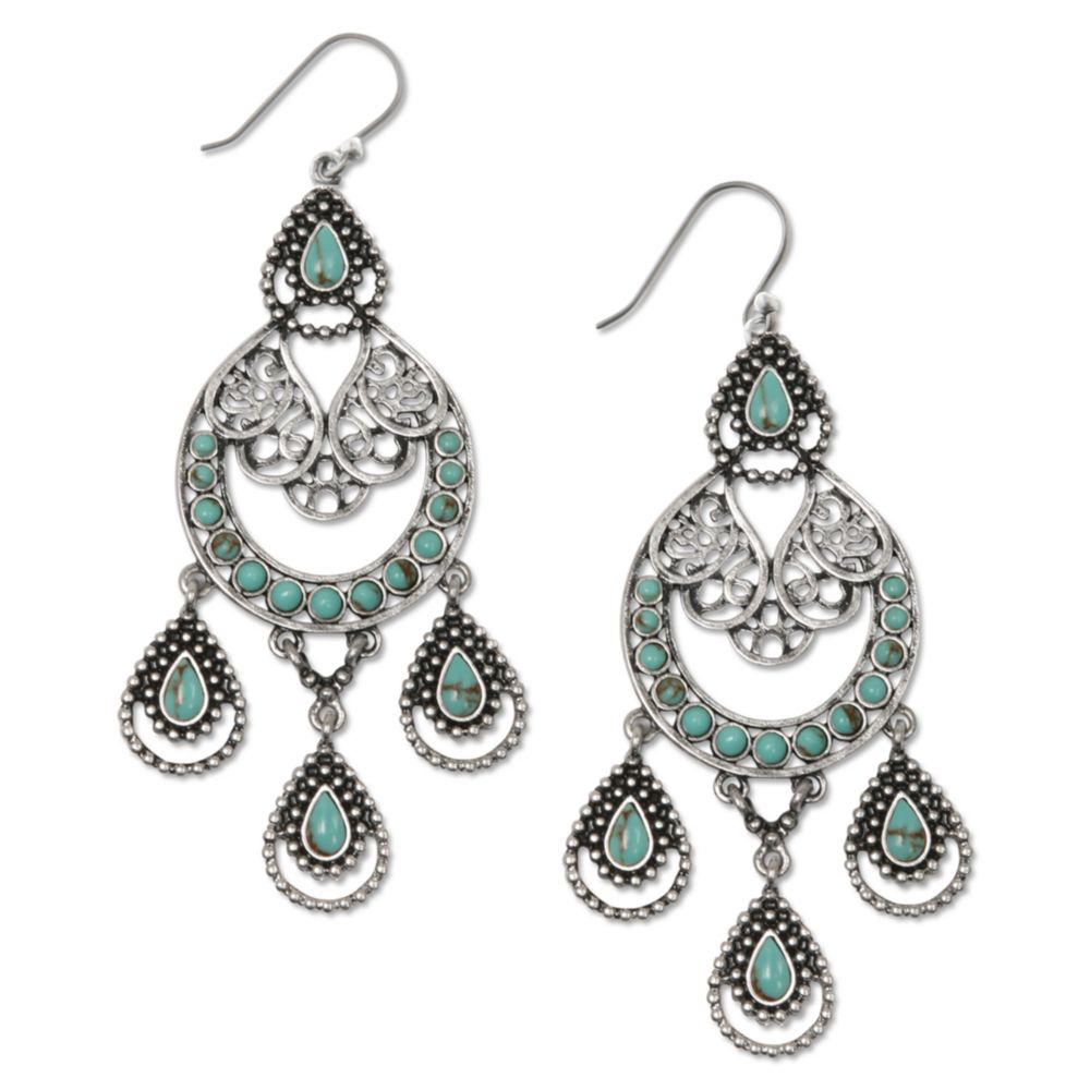 Lucky Brand Silver Tone Semiprecious Turquoise Chandelier Earrings in addition Lucky Brand Semi Precious Turquoise Statement Necklace Silver in addition Kendra Scott Perry Necklace 145 Gunmetal Multi Drusy as well Lucky Brand Two Tone Triple Layer Pendant Necklace in addition Lucky Brand Silvertone Tribal Chandelier Earrings No Color. on lucky brand belts