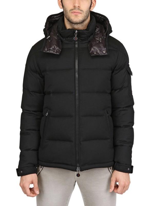 Lyst - Moncler Montgenevre Wool Down Jacket in Black for Men