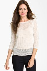 Nic + Zoe Pointelle Pattern Sweater - Lyst