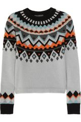 Proenza Schouler Intarsia Wool and Cashmere Blend Sweater