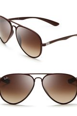 Ray-Ban Theromplastic Aviator Sunglasses - Lyst