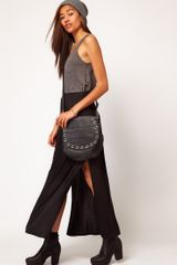River Island Black Side Split Maxi Skirt - Lyst