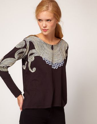 Sass & Bide  Defy The Odds Placement Print Tee - Lyst