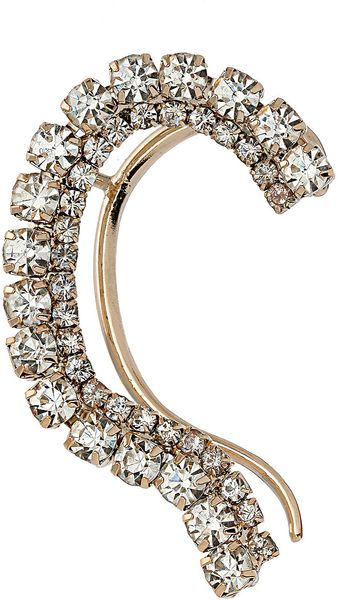 Topshop Bling Ear Curve in Gold (clear) - Lyst