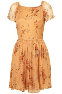 Topshop Autumn Meadow Frill Dress - Lyst