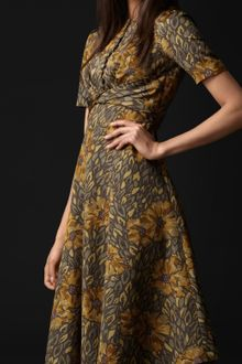 Burberry Prorsum Floral Print Ottoman Dress - Lyst