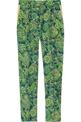 By Malene Birger Printed Silk Twill Pants - Lyst