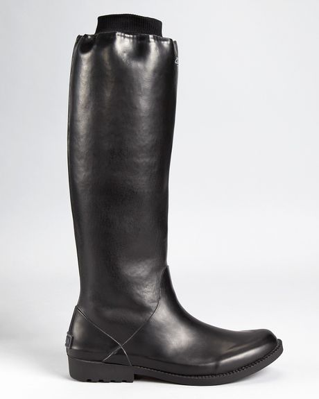 Dkny Rain Boots Feed Voyager In Black Lyst