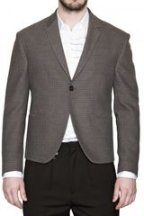 Gazzarrini Jacquard Wool Cotton Jacket - Lyst