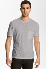 James Perse Classic Crewneck Pocket Tshirt - Lyst