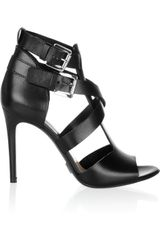 Michael Kors Leather Sandals in Black - Lyst