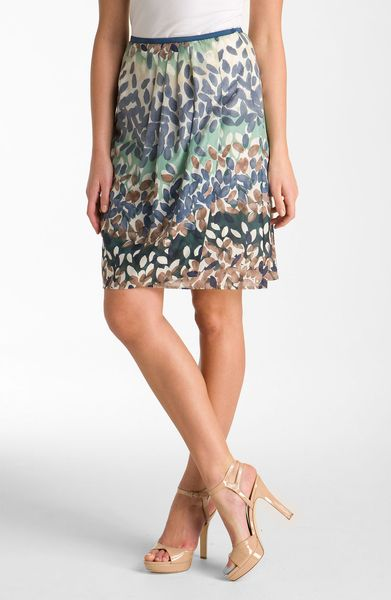 Nic + Zoe Enchanted Petals Skirt in Gray (green multi) - Lyst