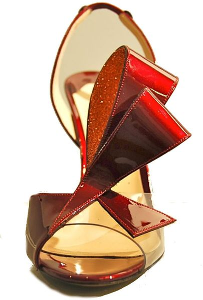 Nicholas Kirkwood Bow Sling Back in Red (bordeaux) - Lyst