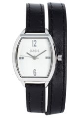 Oasis  Tonneau Leather Strap Watch